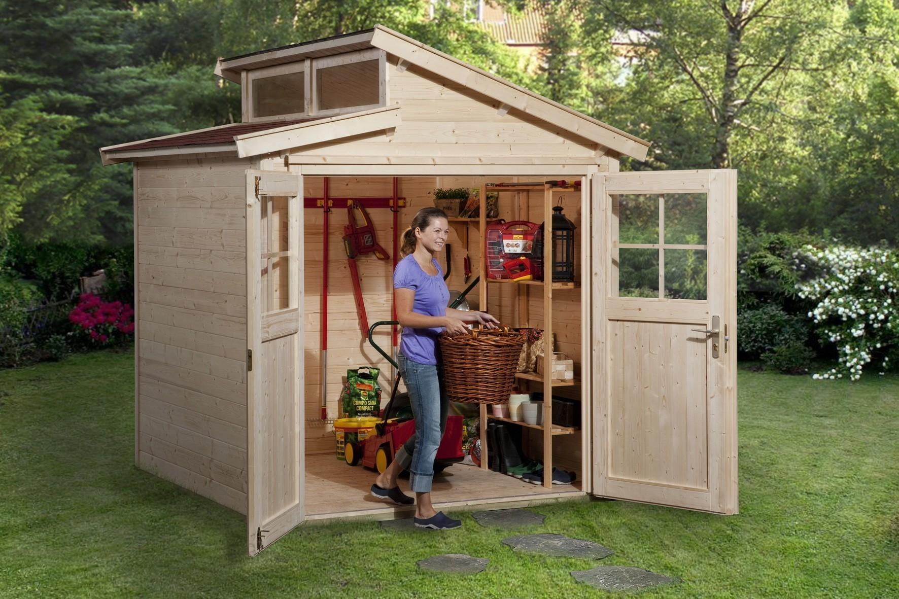 Weka Gerätehaus 21 mm Gartenhaus 226 Gr. 1 natur 235x229cm Bild 1