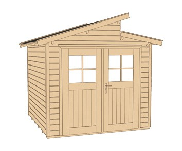 Weka Gerätehaus 21 mm Gartenhaus 226 Gr. 1 rot 235x229cm Bild 3
