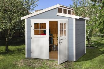 Weka Gerätehaus 21 mm Gartenhaus 226 Gr. 2 grau 265x259cm Bild 1