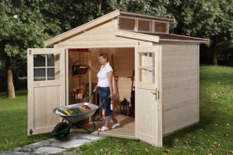 Weka Gerätehaus 21 mm Gartenhaus 226 Gr. 2 natur 265x259cm Bild 1