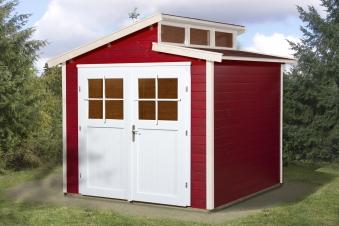 Weka Gerätehaus 21 mm Gartenhaus 226 Gr. 2 rot 265x259cm Bild 1
