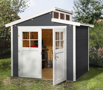 Weka Gerätehaus 21 mm Gartenhaus 226 Gr. 3 anthrazit 325x229cm Bild 1