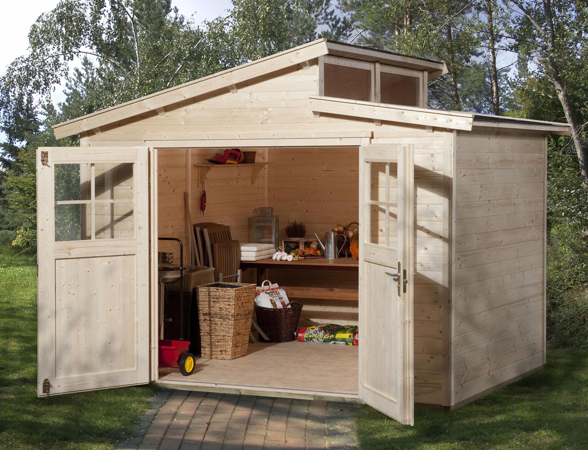 Weka Gerätehaus 21 mm Gartenhaus 226 Gr. 3 natur 325x229cm Bild 1