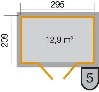 Weka Gerätehaus 21 mm Gartenhaus 226 Gr. 3 natur 325x229cm Bild 2