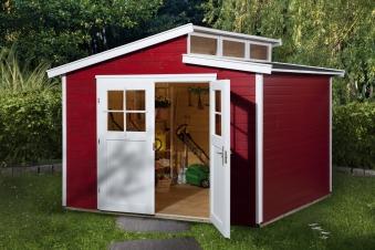 Weka Gerätehaus 21 mm Gartenhaus 226 Gr. 3 rot 325x229cm Bild 1