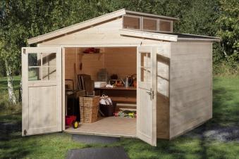Weka Gerätehaus 21 mm Gartenhaus 226 Gr. 4 natur 325x319cm Bild 1