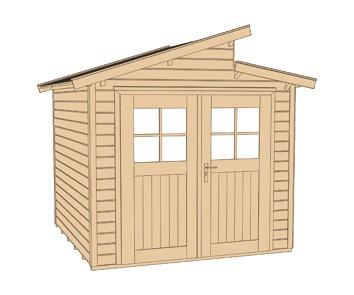 Weka Gerätehaus 21 mm Gartenhaus 226 Gr.2 anthrazit 265x259cm Bild 3