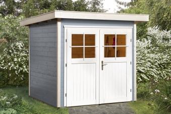 Weka Gerätehaus 21 mm Gartenhaus 227 Gr. 2 grau 255x280cm Bild 1