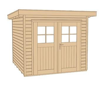 Weka Gerätehaus 21 mm Gartenhaus 227 Gr. 2 rot 255x280cm Bild 3
