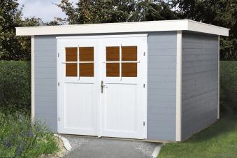 Weka Gerätehaus 21 mm Gartenhaus 227 Gr. 3 grau 315x280cm Bild 1