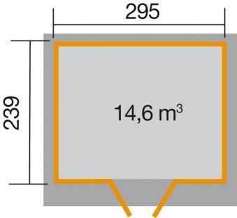 Weka Gerätehaus 21 mm Gartenhaus 227 Gr. 3 grau 315x280cm Bild 2