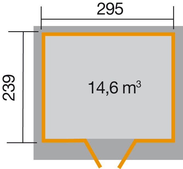 Weka Gerätehaus 21 mm Gartenhaus 227 Gr. 3 natur 315x280cm Bild 2