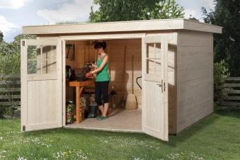 Weka Gerätehaus 21 mm Gartenhaus 227 Gr. 3 natur 315x280cm Bild 1