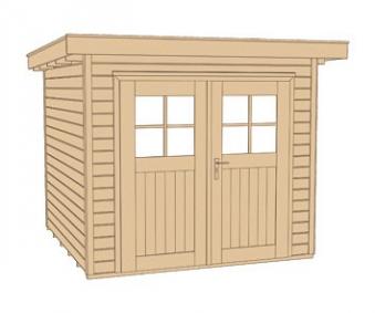 Weka Gerätehaus 21 mm Gartenhaus 227 Gr. 3 rot  315x280cm Bild 3