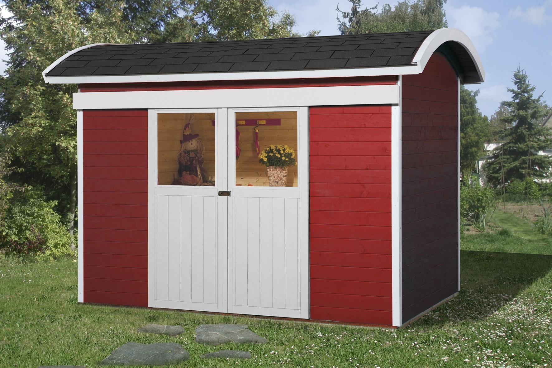 weka ger tehaus 21 mm schiebet rhaus 228 rot 344x241cm bogendach bei. Black Bedroom Furniture Sets. Home Design Ideas