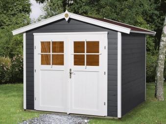 Weka Gerätehaus 21mm Gartenhaus 224 Gr.3 anthrazit 280x259cm Doppeltür Bild 1
