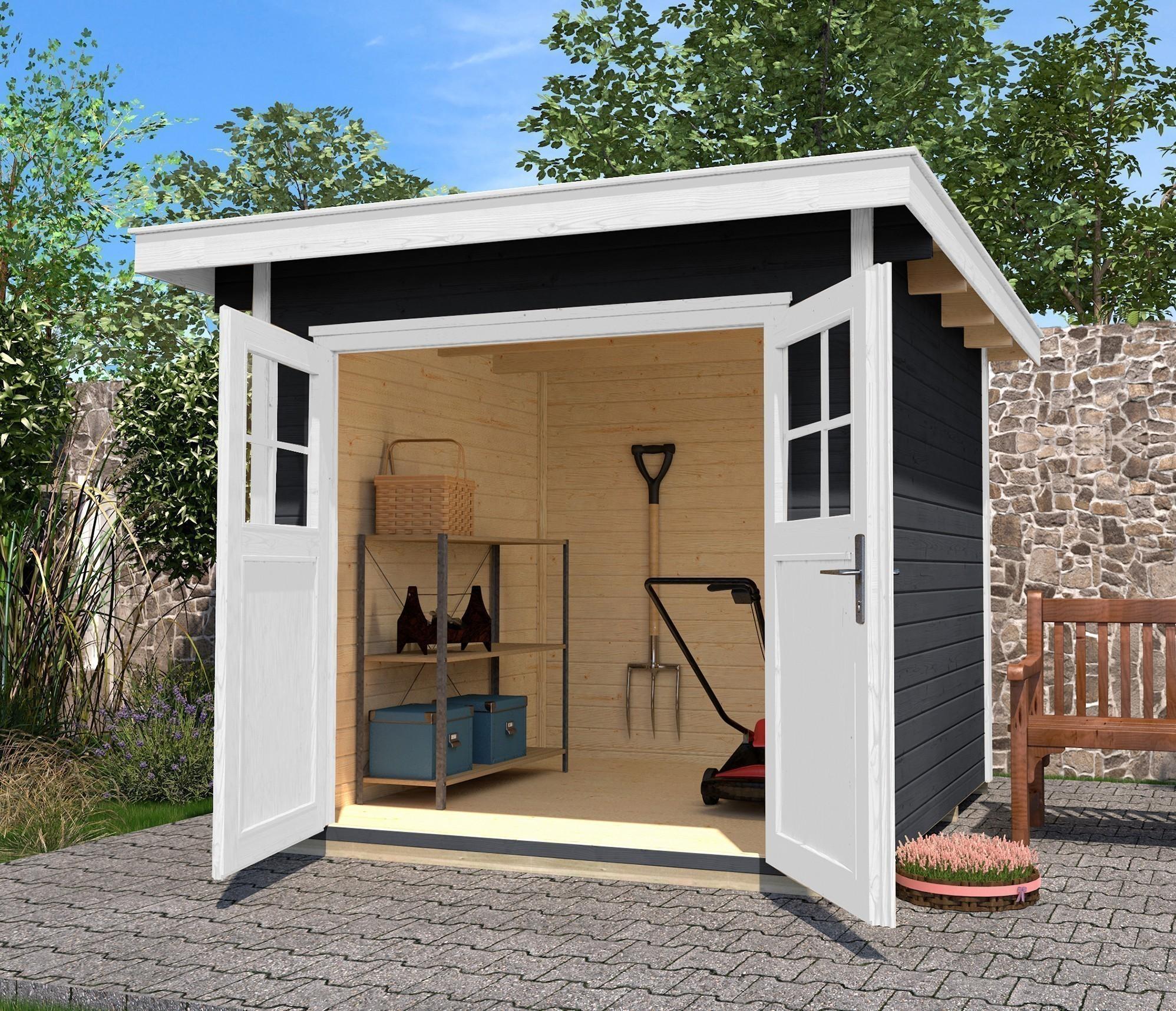 Weka Gerätehaus 28 mm Gartenhaus 179 Gr. 2 anthrazit 280x311cm Bild 2