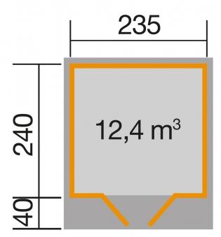 Weka Gerätehaus 28 mm Gartenhaus 179 Gr. 2 anthrazit 280x311cm Bild 3