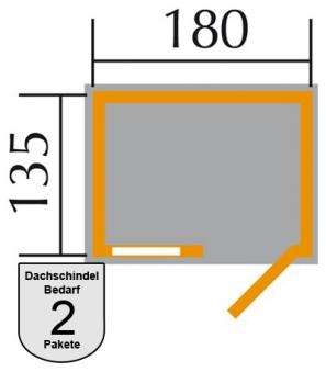 Weka Gerätehaus 345 Gr.2 ET 14 mm natur 205x158cm Bild 2
