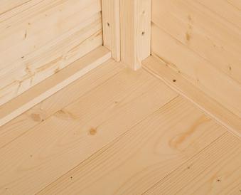 Fußboden 19mm für Weka Gerätehaus Gardenbox 3 natur 180x180cm
