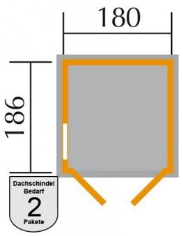 Weka Gerätehaus 346 DT 14 mm 3 natur 205x206cm Bild 2