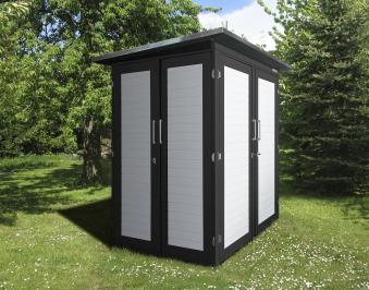 Weka Geräteschrank GartenQ Kompakt anthrazit 210x150cm Bild 1