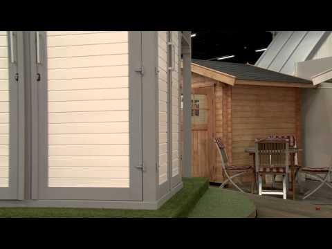 Weka Geräteschrank GartenQ Kompakt schwedenrot 210x150cm Video Screenshot 257