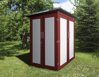 weka ger teschrank gartenq kompakt schwedenrot 210x150cm bei. Black Bedroom Furniture Sets. Home Design Ideas