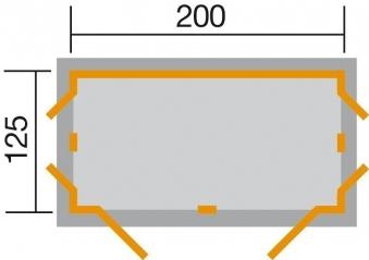 Weka Geräteschrank GartenQ Kompakt schwedenrot 210x150cm Bild 2