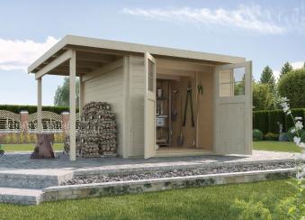weka ger tehaus 19mm gartenhaus 321a gr 3 natur 393x293cm bei. Black Bedroom Furniture Sets. Home Design Ideas