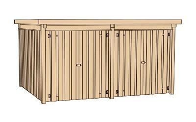 weka ger tehaus 20 mm lagerhaus 3 kdi 410x304cm bei. Black Bedroom Furniture Sets. Home Design Ideas