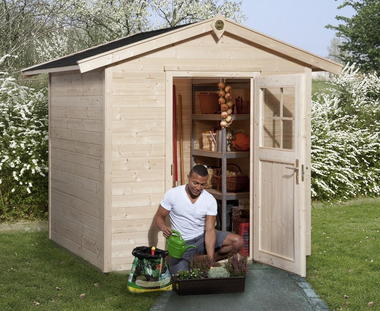 weka ger tehaus 21 mm gartenhaus 223 gr 1 natur 260x174cm bei. Black Bedroom Furniture Sets. Home Design Ideas