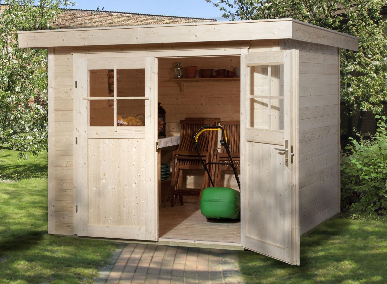 weka ger tehaus 21 mm gartenhaus 227 gr 1 natur 225x249cm bild 1. Black Bedroom Furniture Sets. Home Design Ideas