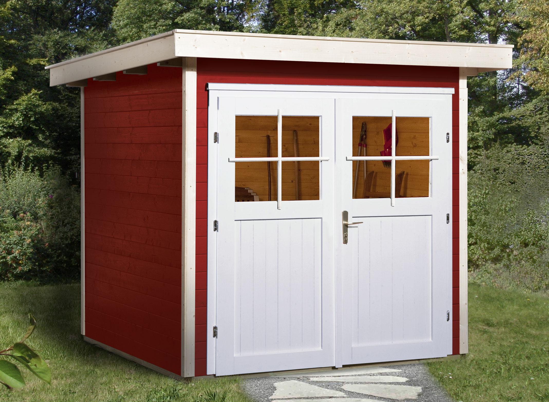 weka ger tehaus 21 mm gartenhaus 227 gr 1 rot 225x249cm bei. Black Bedroom Furniture Sets. Home Design Ideas