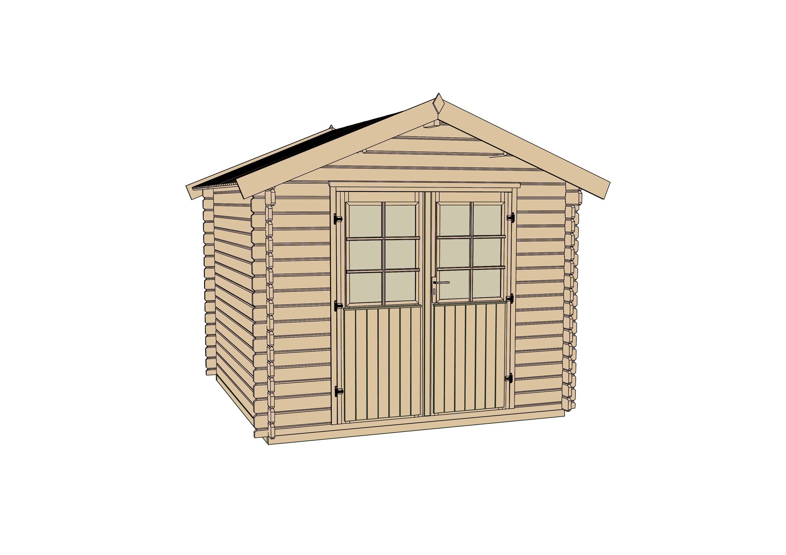 weka ger tehaus 28mm gartenhaus 209 gr 1 natur 253x230cm bei. Black Bedroom Furniture Sets. Home Design Ideas