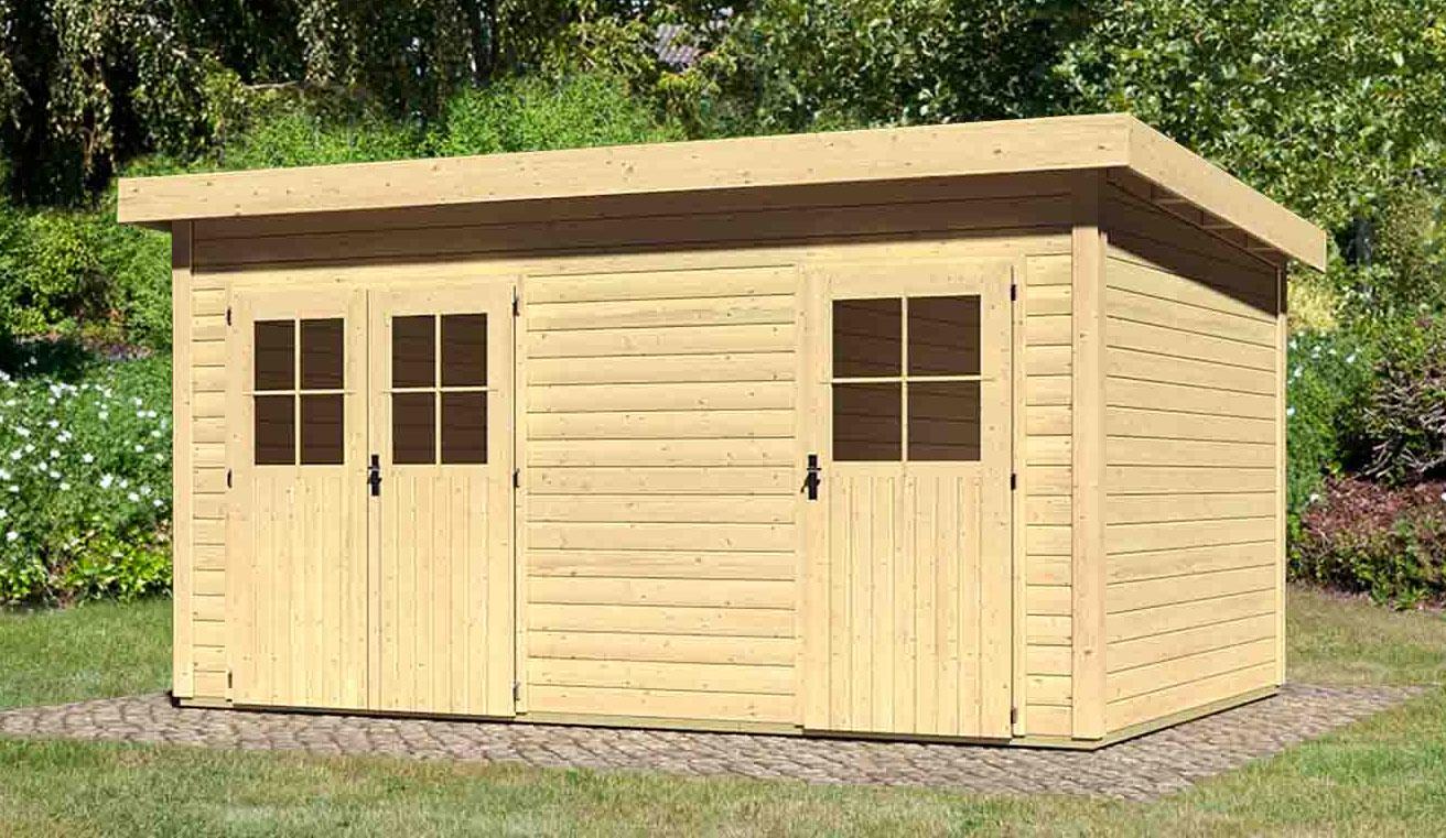 woodfeeling gartenhaus 28 mm mattrup visby 5 natur 456x303cm bei. Black Bedroom Furniture Sets. Home Design Ideas