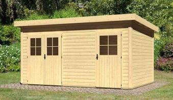 WoodFeeling Gartenhaus 28 mm Mattrup natur 456x303cm Bild 1
