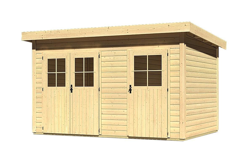 woodfeeling gartenhaus 28 mm tintrup natur 396x273cm bei. Black Bedroom Furniture Sets. Home Design Ideas