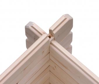 Woodfeeling Gartenhaus 28 mm Bayreuth 3 VD+Terrasse natur 346x456cm Bild 7