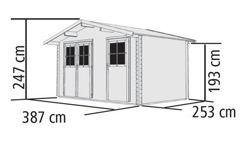 Woodfeeling Gartenhaus 28 mm Radur 0 natur 406x312cm Bild 2