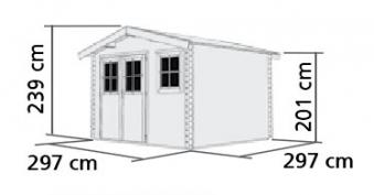 Woodfeeling Gartenhaus 38 mm Felsenau 3 natur 320x320cm Bild 2
