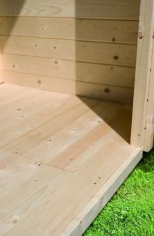 Fußboden 16mm natur für Woodfeeling Gartenhaus Sockelmaß 340x230cm