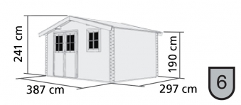 Woodfeeling Gartenhaus 38 mm Felsenau 5 natur 407x320cm Bild 2