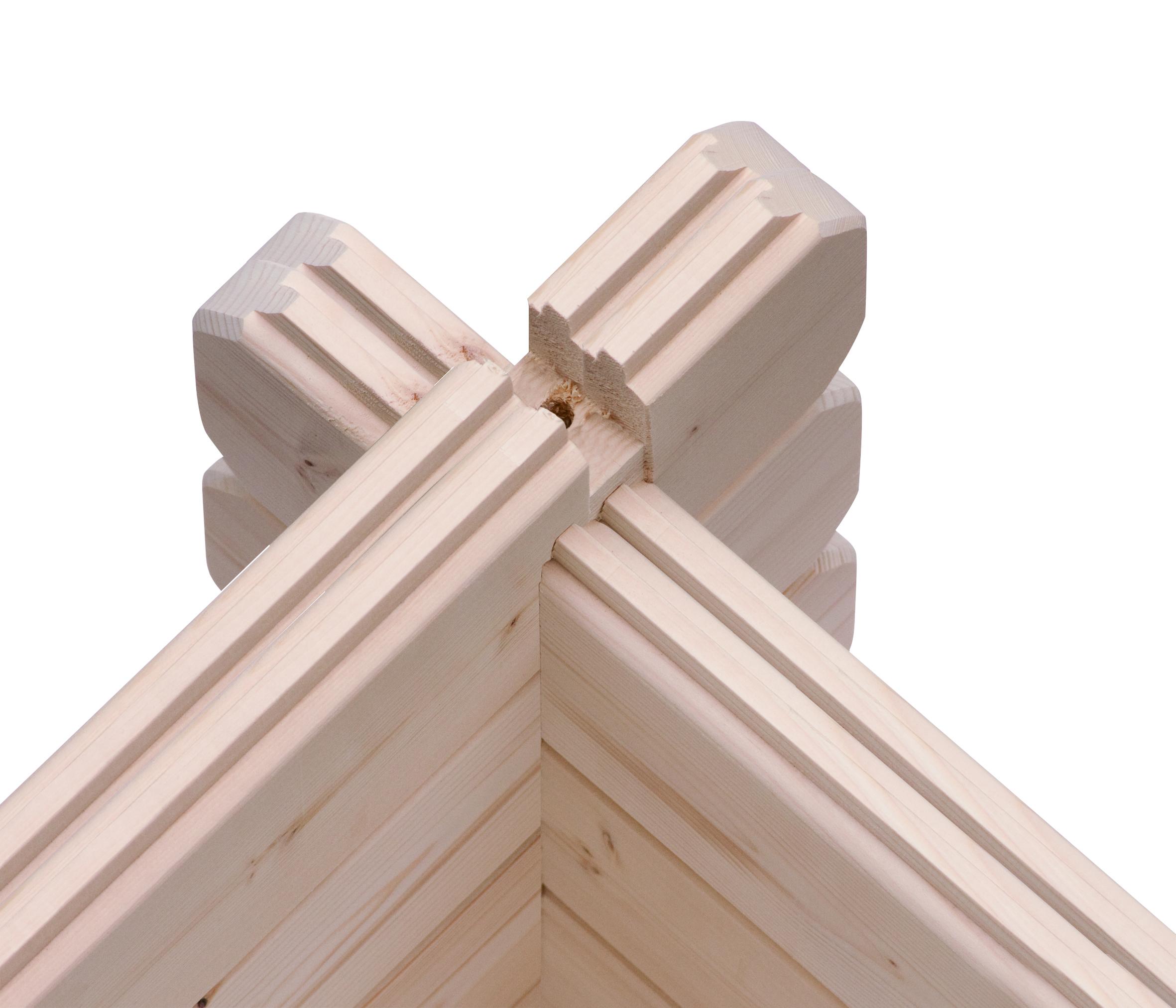Woodfeeling Gartenhaus 38 mm Meldorf 6 VD+Terrasse natur 404x590cm Bild 8