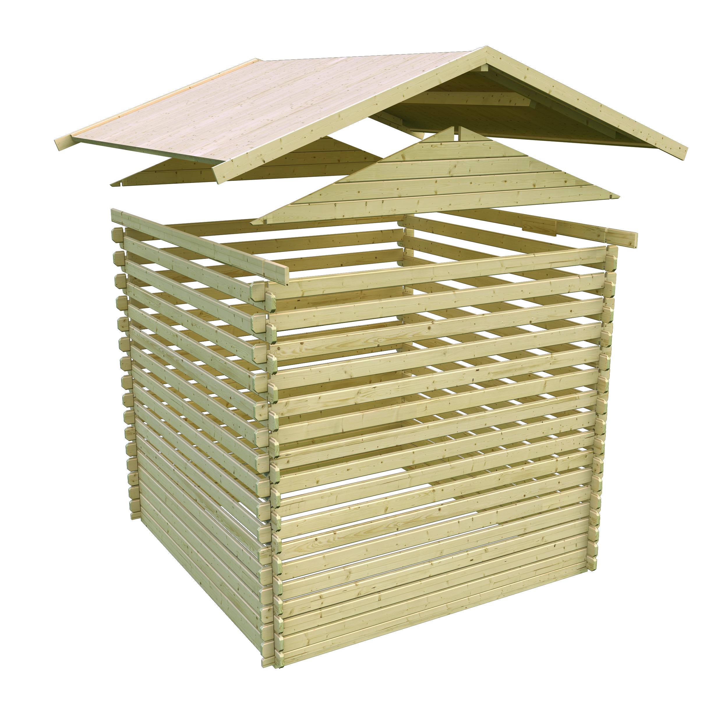 Woodfeeling Gartenhaus 38 mm Meldorf 6 VD+Terrasse natur 404x590cm Bild 9