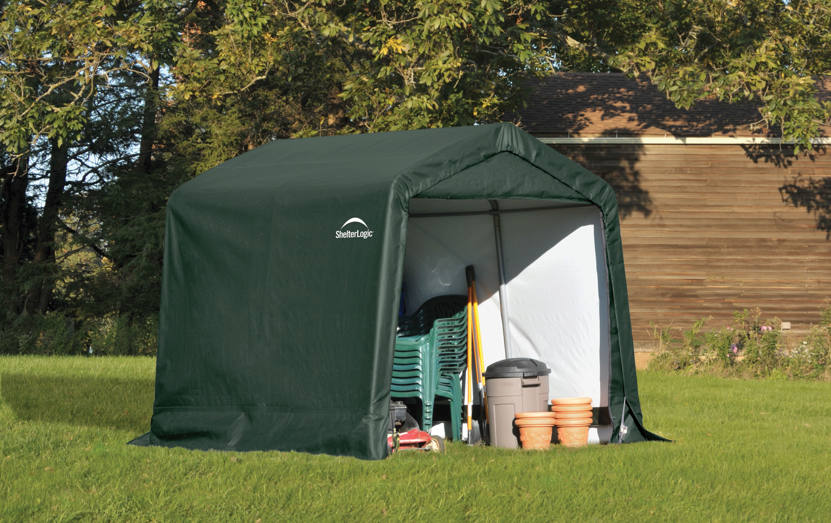 auto canvas round box products shelter in all garage a page shelterlogic
