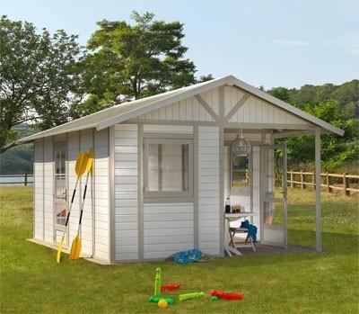 grosfillex gartenhaus deco 20b kunststoff grau gr n 493 x 403 cm bei. Black Bedroom Furniture Sets. Home Design Ideas
