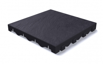 Grosfillex Fundament / Bodenplatten Set 11m² 90 Platten Schieferdekor