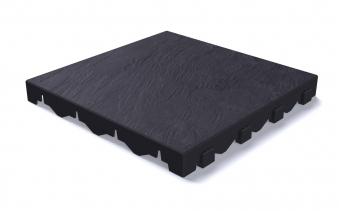 Grosfillex Fundament / Bodenplatten Set 4,9m² 42 Platten Schieferdekor