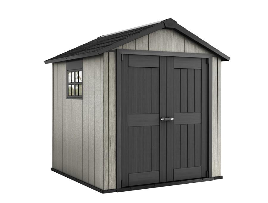 tepro kunststoff ger tehaus oakland 757 grau 230x224cm bei. Black Bedroom Furniture Sets. Home Design Ideas